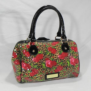 BETSY JOHNSON ROSE, LEOPARD, SEQUIN TOTE